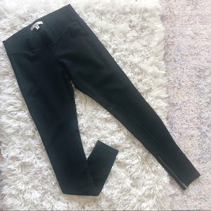 CAbi | Black Ponte Knit Riding Leggings Pants XS
